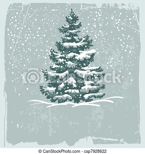 Vintage Christmas card - csp7928622