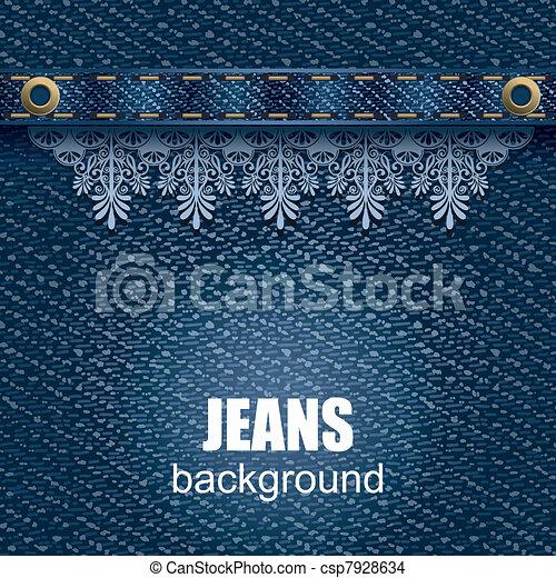 Jeans background - csp7928634