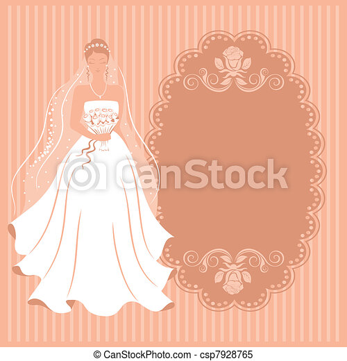Bride with a bouquet. - csp7928765
