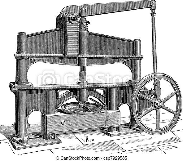 The Machine used to process leather vintage engraving - csp7929585