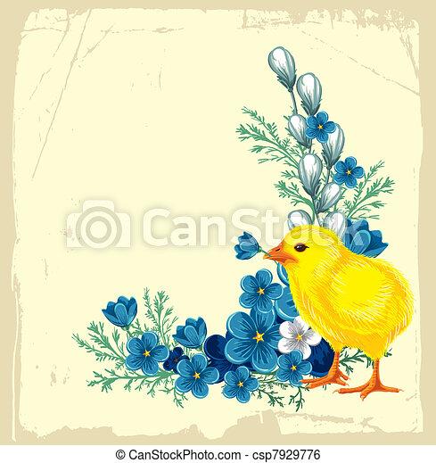 Easter vintage background - csp7929776