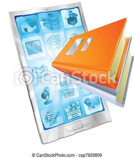 Book app phone concept - csp7929809