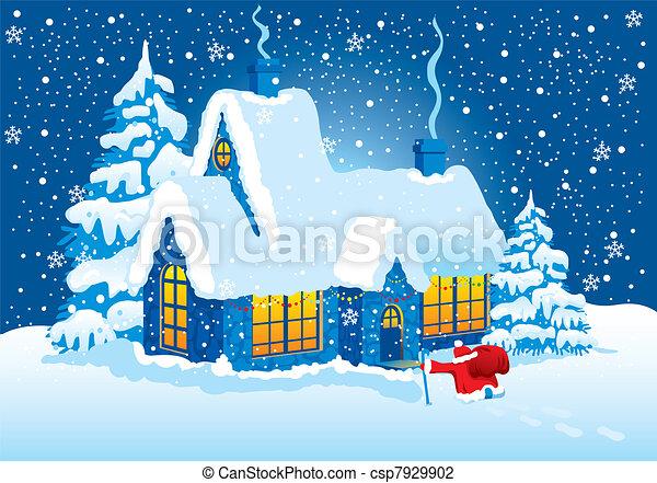 Christmas Night - csp7929902