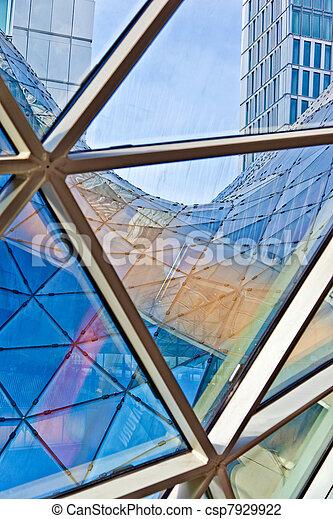 Stock Foto av glas, nymodig, arkitektur, tak - nymodig, arkitektur ...