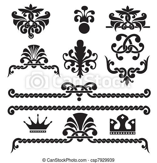 gothic design elements  - csp7929939