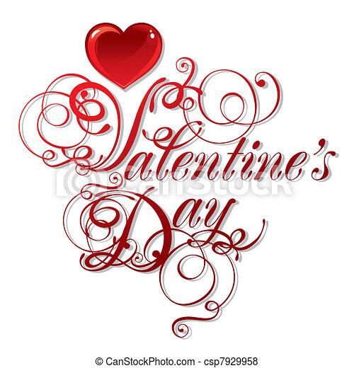 beautiful background on Valentine's Day - csp7929958