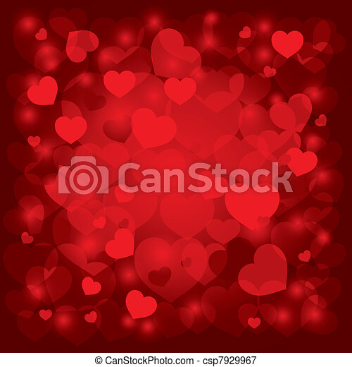 beautiful background on Valentine's Day - csp7929967