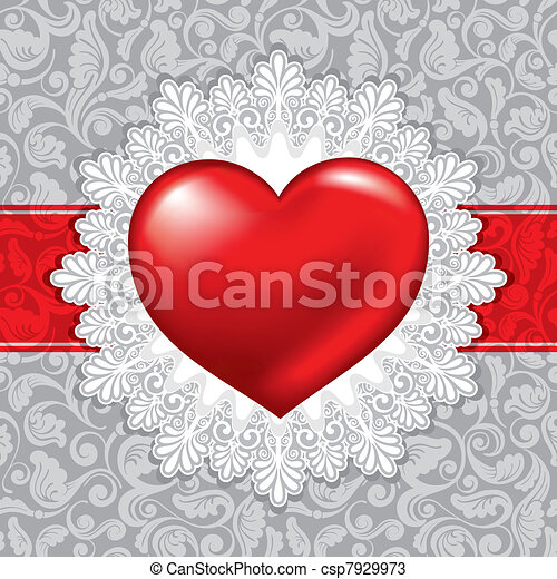 beautiful background on Valentine's Day - csp7929973