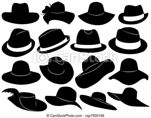 Hats Illustration  - csp7930166