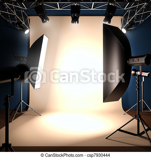 A photo studio background template. - csp7930444
