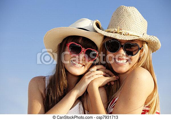 summer teens on vacation - csp7931713