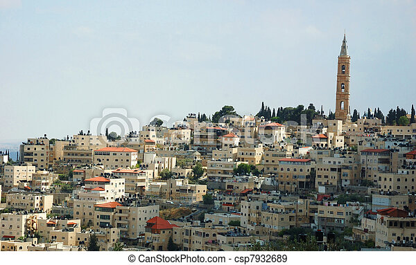 View of holy city Jerusalem , Israel - csp7932689