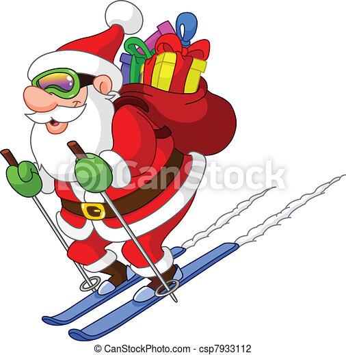 Skiing Santa - csp7933112
