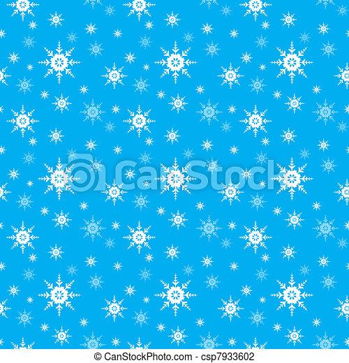 Vector,  seamless, achtergrond, sneeuwvlok - csp7933602
