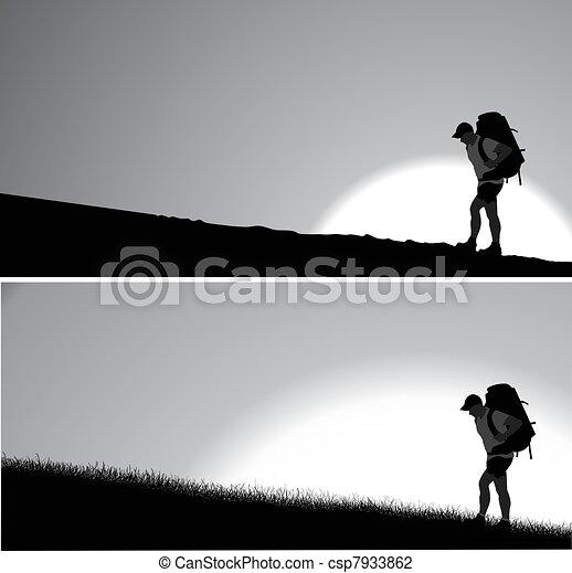 Lone traveler   - csp7933862