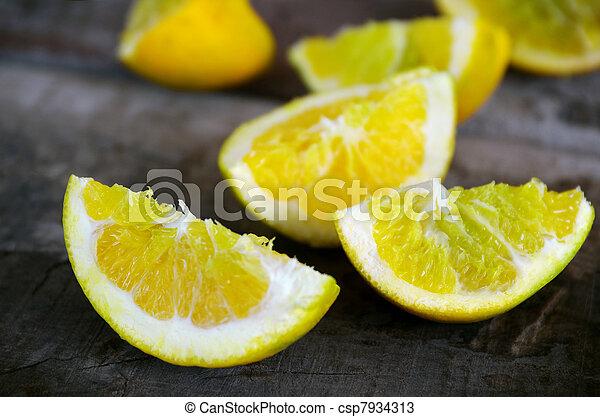 Lemon quarters - csp7934313