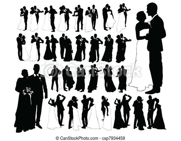 Vetor Eps De Casado Apenas Noiva E Noivo Dan 231 Ar