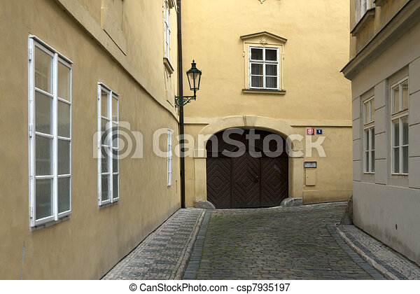 Historic Lesser Town in Prague - csp7935197