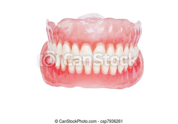 Denture close up - csp7936261