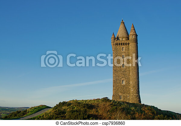 Famous Scrabo Tower in Northern Ireland - csp7936860