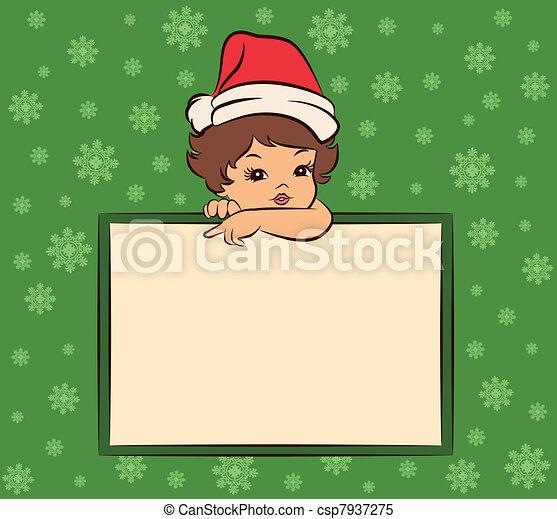 little girl in suit Snow Maiden. - csp7937275