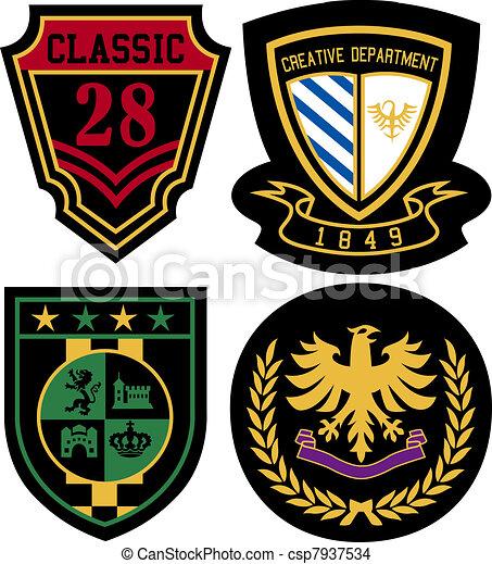 badge design set - csp7937534
