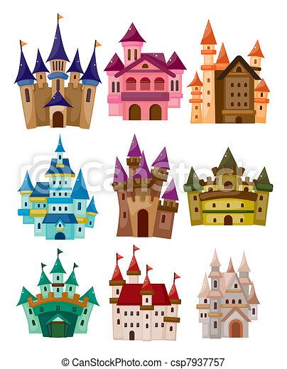 cartoon Fairy tale castle icon - csp7937757
