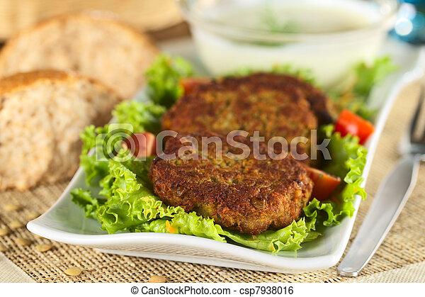 Vegetarian lentil burger - csp7938016