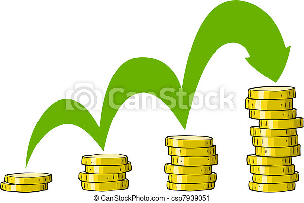Stack of Coins Vector Stack of Coins Coins on a