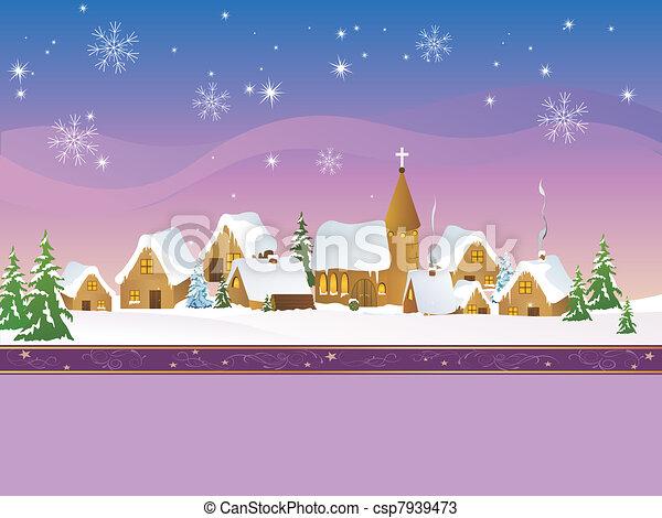 Christmas Village  - csp7939473