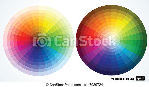 Color wheels. Vector illustration  - csp7939724