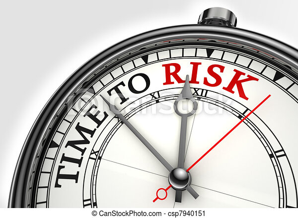 risk time concept clock closeup  - csp7940151