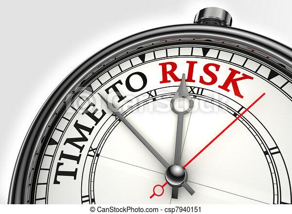 risk time concept clock closeup  - csp7940151