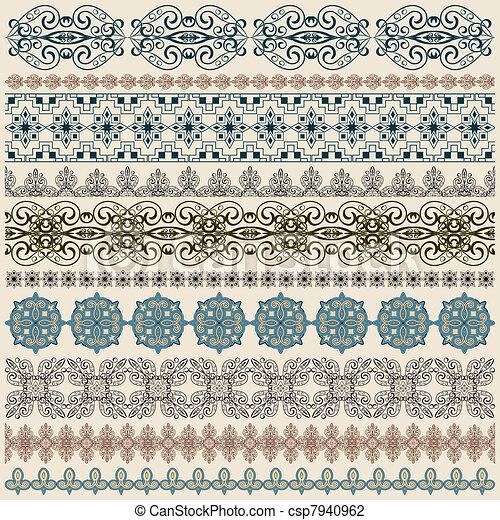 vectorten  seamless vintage border pattern  - csp7940962