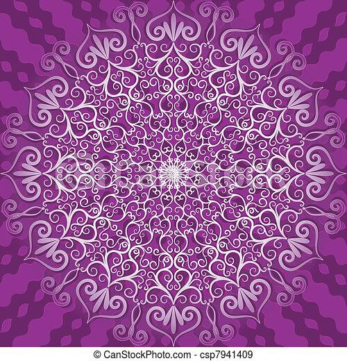 Round decorative pattern - csp7941409