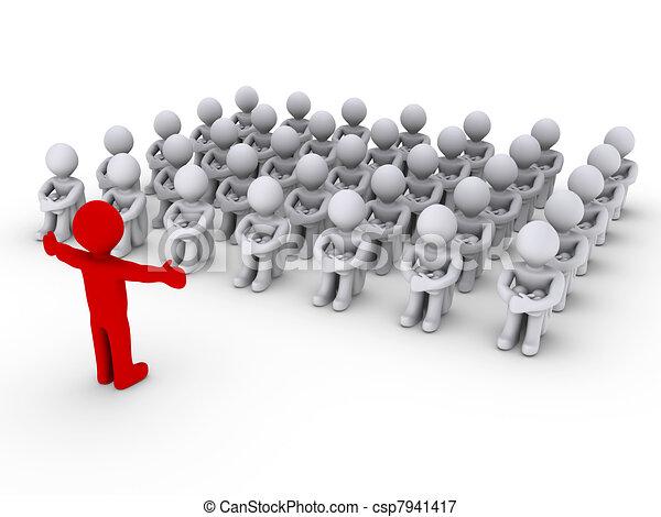 Leader is teaching people - csp7941417