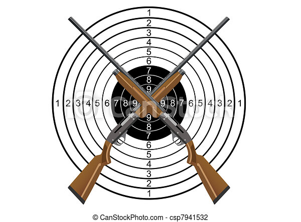 Hunting rifles and target - csp7941532