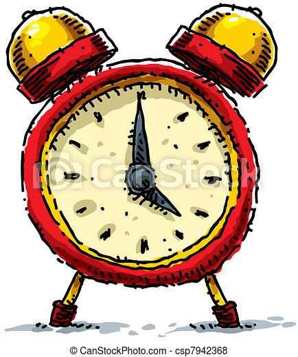 Stock de Ilustraciones - alarma, caricatura, reloj - Ilustración ...