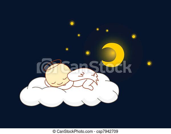 Angel sleeping - csp7942709