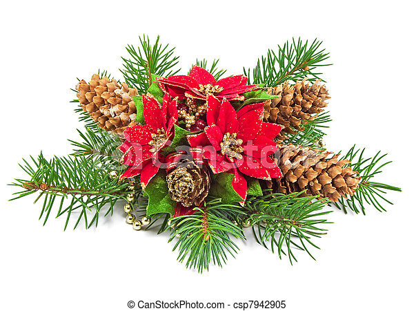 christmas decoration on a white background  - csp7942905