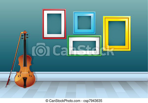 Violin with Empty Frame - csp7943635