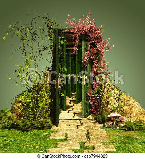 A Curious Entrance - csp7944823