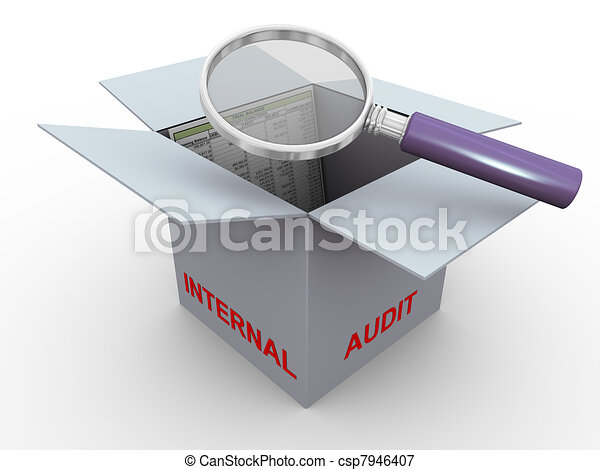 3d concept of internal audit - csp7946407