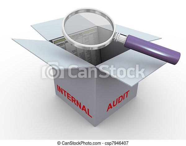 3d concept of internal audit - csp7946407
