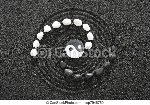 zen stones with yin and yang - csp7946750