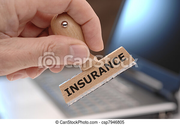 rubber stamp marked with INSURANCE - csp7946805