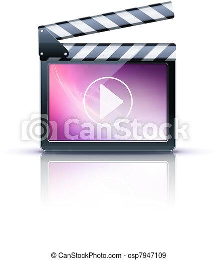 media player icon - csp7947109