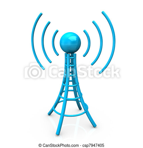Blue Antenna Tower - csp7947405