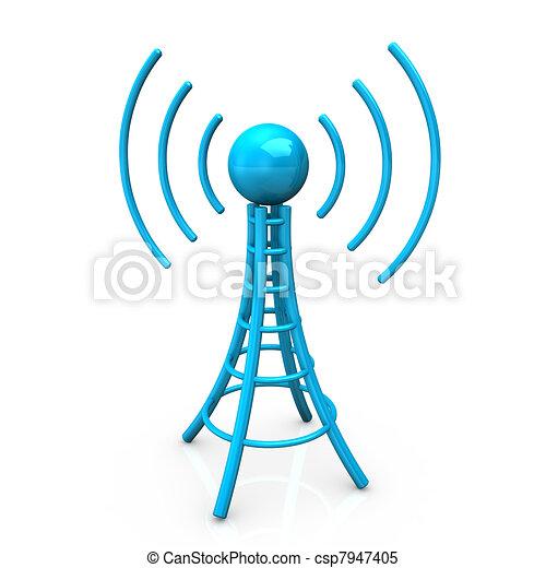 Blue Antenna Tower - csp7947405