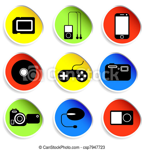 Icon set of electronic gadgets - csp7947723